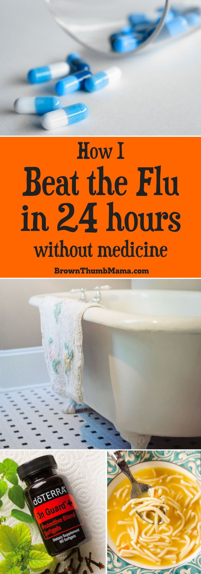 I beat the flu in 24 hours using only natural remedies. Stay away from synthetic medicines and their unpredictable side effects!