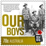 70c Our Boys. Anzac Day stamp