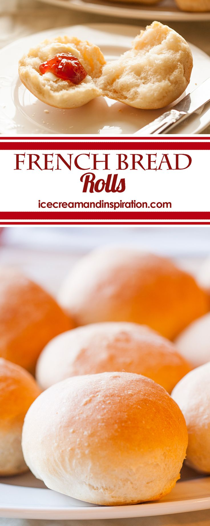 Easily make these soft, fluffy French Bread Rolls with just six simple ingredients. They taste just like the famous French bread that you love!