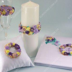 Свадебные аксессуары FLORES CORONA белые лиловые желтые