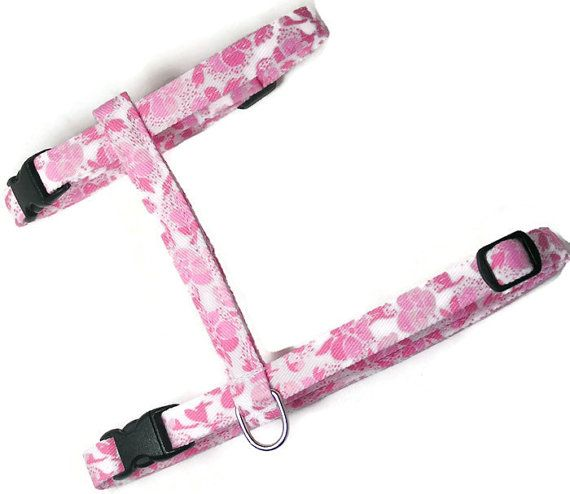Cat Harness  Pretty Pinks  Cute Soft and Fancy for by PawsnTails