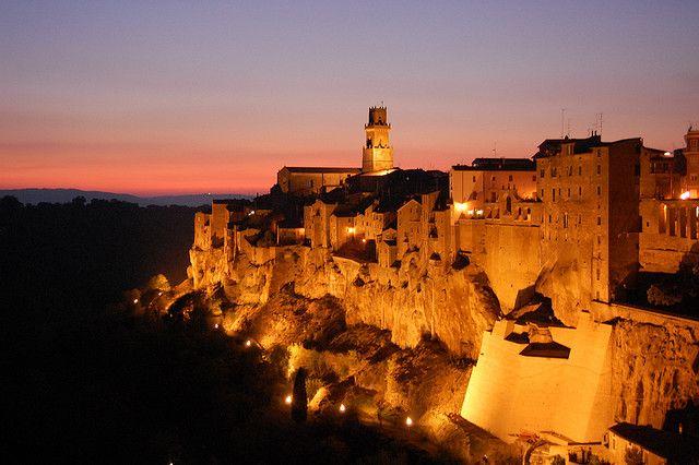 Pitigliano by night #Tuscany #Toscana  http://www.poggioaltufo.it/agriturismo-poggio-al-tufo/
