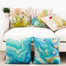 Aquarelle art oreiller, Feuilles oreiller coussin, Taie d'oreiller, Coussins du canapé oreillers décoratifs pour la maison(China (Mainland))