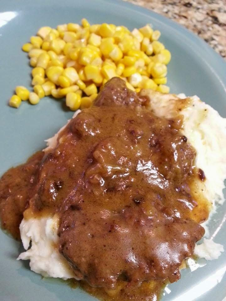 Sharing With My Sisters : Hamburger Steak and Homemade Brown Gravy