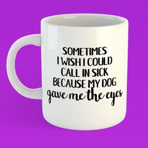 If looks could kill... 🐶😍. #doglover #furbaby #stayathomedogmom #furmama #puppyeyes #ihatework #callinginsick #stayathomedogday #etsy #etsymugs #etsyfinds #etsygram