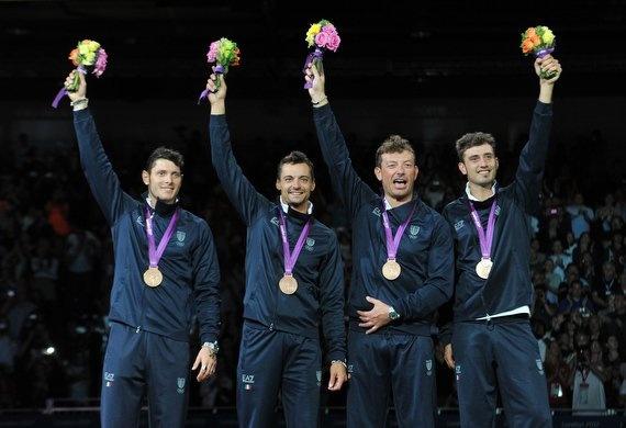 Bronzo per l'Italia nella Sciabola a squadre. Bronze, fencing, London 2012.