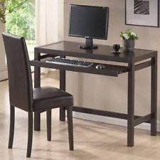 Baxton Studio Mesa Dark Brown Writing Desk and Parson Chair Set  (Brand New)