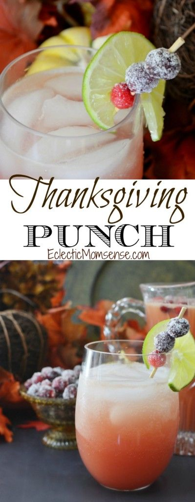 Thanksgiving Punch with Candied Cranberries. A delicious addition to holiday celebrations. #PassTheTEN ad #recipe