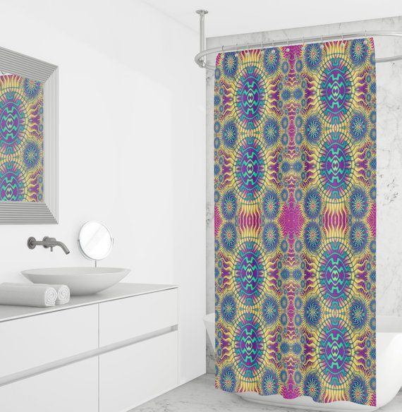 Boho Hippie Shower Curtain Curtains White Bathroom Storage