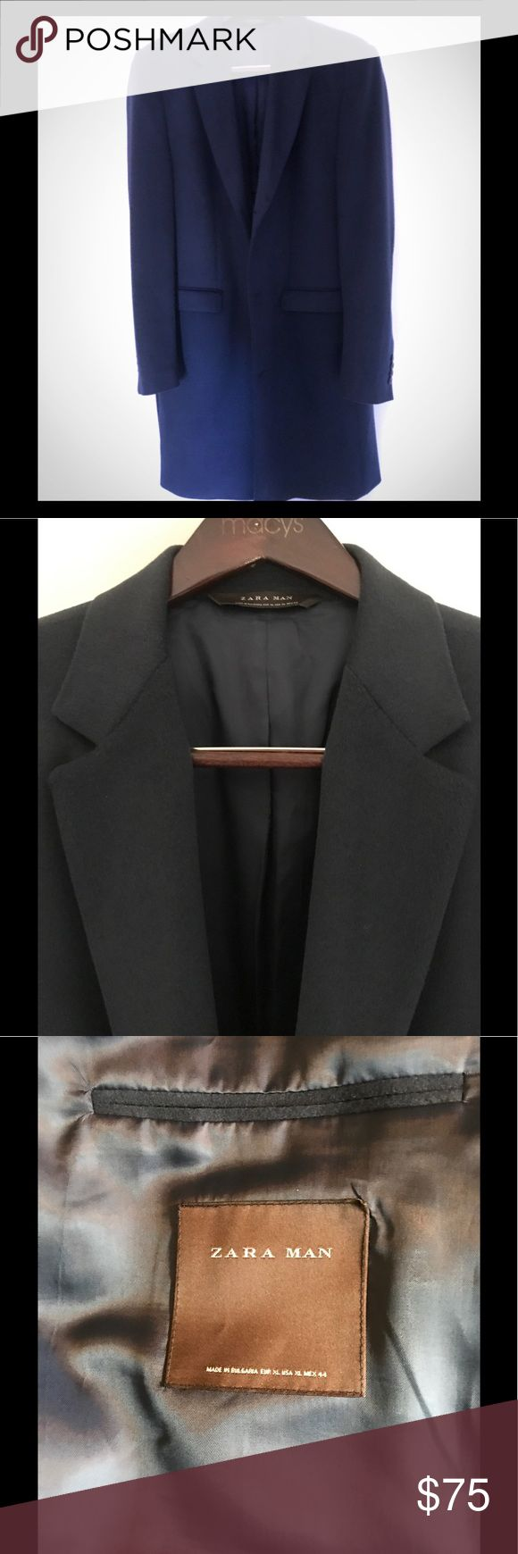 Zara Man long coat Brand New NEVER worn. I know it's summer but this is worth the investment. zara man Jackets & Coats Pea Coats