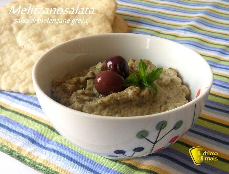 Melitzanosalata ricetta salsa di melanzane greca il chicco di mais.