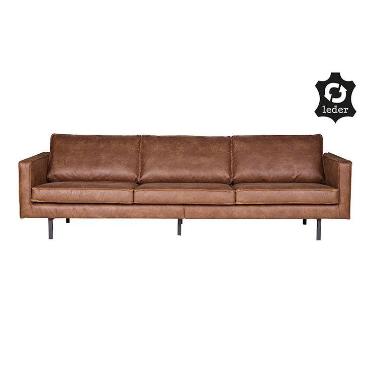 BePureHome Rodeo Classic Bank | Design meubelen en de laatste woontrends #bepurehome #lederen #bank #bankstel #lederenbank #lerenbank #rodeo #cognac #moderne #eigentijdse #bank