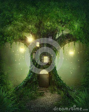 Fantasy tree house by Elena Schweitzer, via Dreamstime