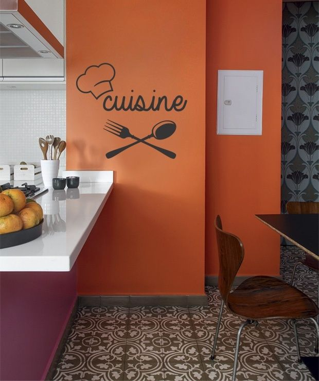 Kitchen Wall Decor Orange : Best images about vinilos on wall decor