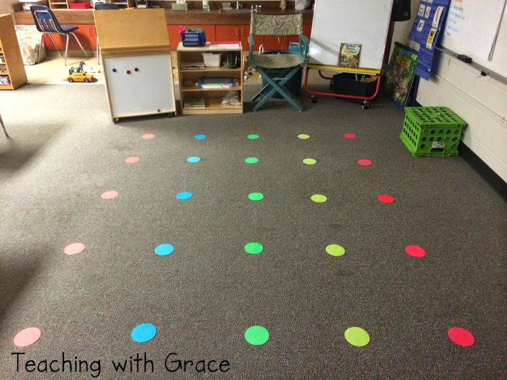 Velcro dots in place of a large expensive carpet if for Classroom floor