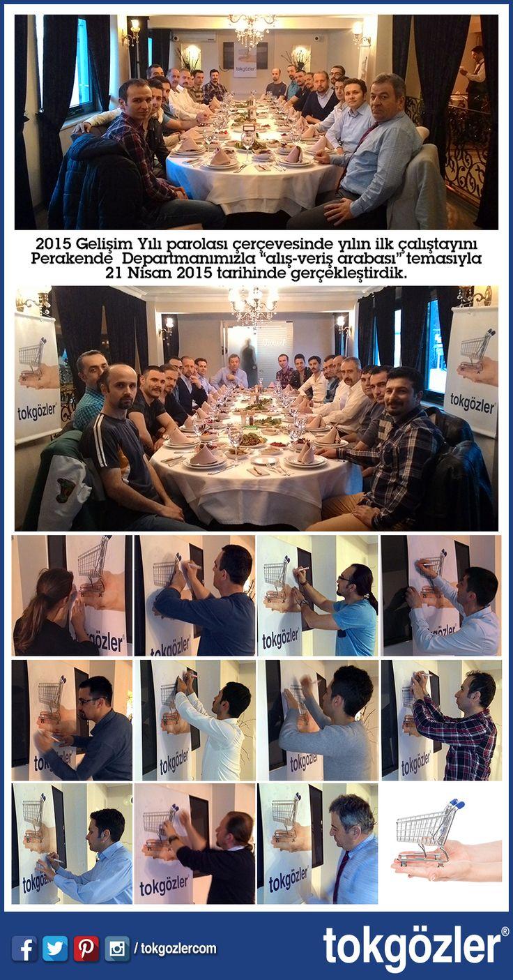 """2015 Gelişim Yılı parolası çerçevesinde yılın ilk çalıştayını Perakende Departmanımızla """"alış-veriş arabası"""" temasıyla 21 Nisan 2015 tarihinde gerçekleştirdik.  #tokgozler #tokgozlercom #YapıMarket #Bursa #perakende #çalıştay"""