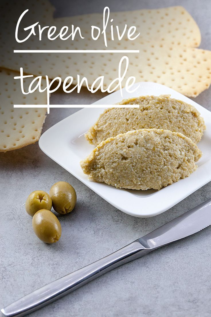 tiffani and co Spread some green olive tapenade on a cracker or bread slice and enjoy Black olives are great for tapenades but try using green olives instead