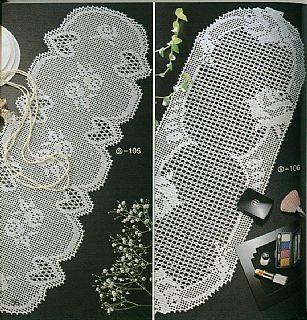 Flower table runner with diagram
