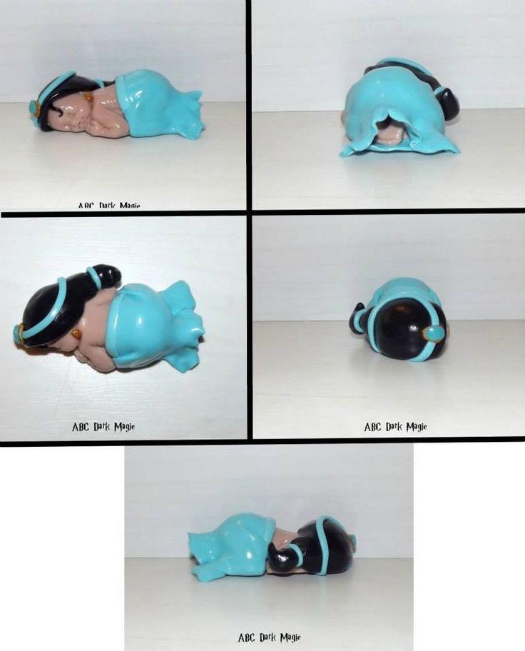 Figurine bébé jasmine disney en fimo