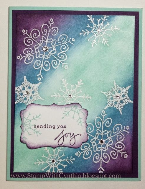 New Photopolymer Stamp SetNew Photopolymer Stamp Set.  Love the Endless Wishes stamp set!!  Here I used sponging to create a great background for the emboss-resist