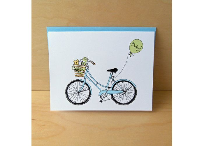 Bike Baby Card. Price: £2.43, available from Etsy.
