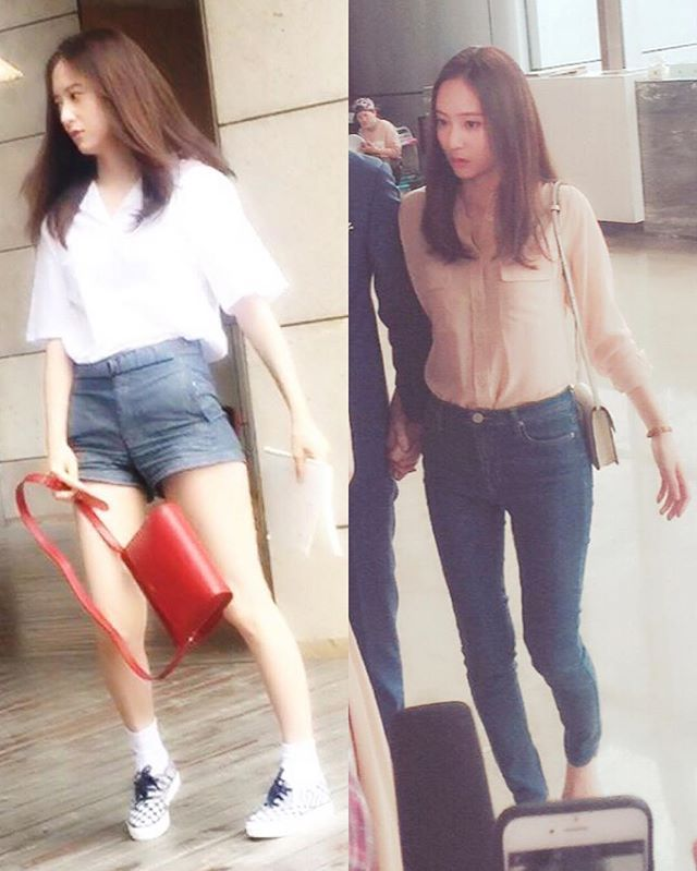 ❤️ 《160529》#Krystal filming GS. •• ©︎ owner #크리스탈 #jungsoojung #fx @vousmevoyez ~