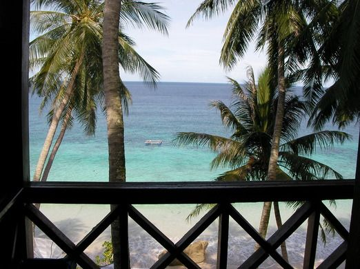 Sumur Tiga beach from the balcony: Guests will find themselves falling asleep to the relaxing sound of the ocean. (Photo...