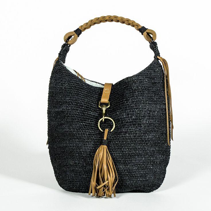 Sasha sac large Noir cuir Marron clair by Sans-Arcidet Collection | Sans-Arcidet Collection