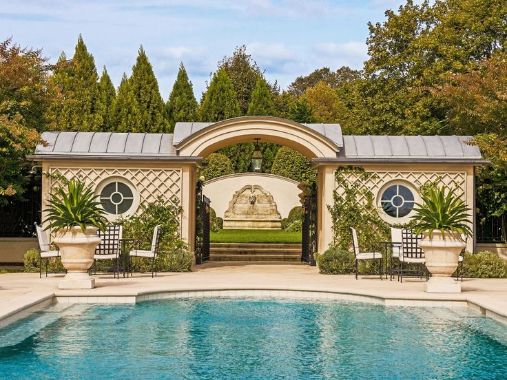 There is a pool with panoramic water views, a pool cabana, a tennis court, and a comfortable and chic two-bedroom guest house. Description from sothebyshomes.com. I searched for this on bing.com/images