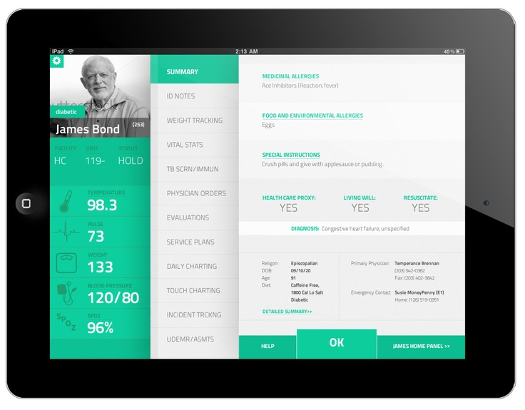 Patient SmartChart app by Tomas Jasovsky