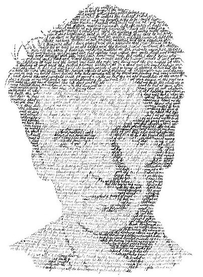 Neil Finn picture made with lyrics from his songs. Fabulous.
