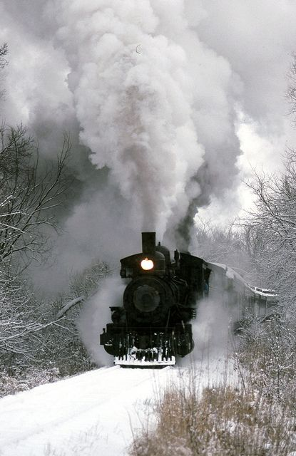 - just breathe - Nothing else is quite like vintage steam locomotives in the dead of Winter.