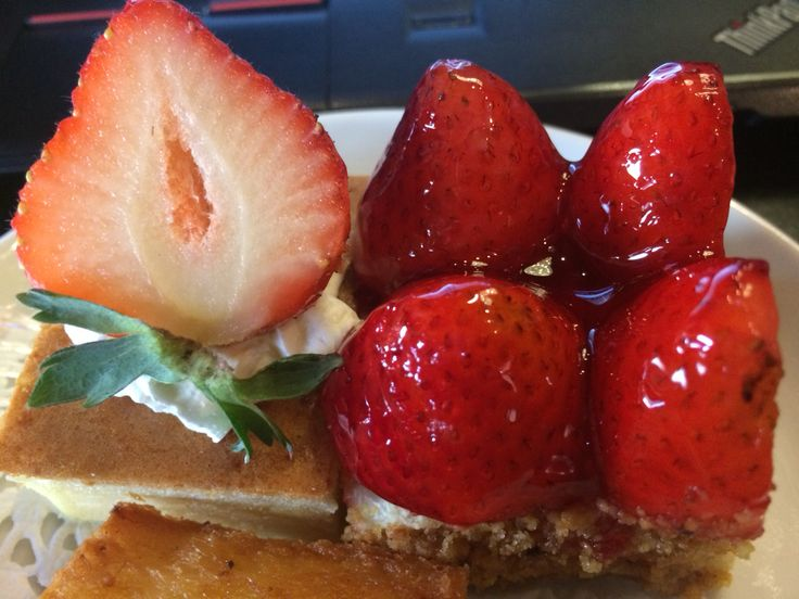 strawberry cheese cake #snack during workshop