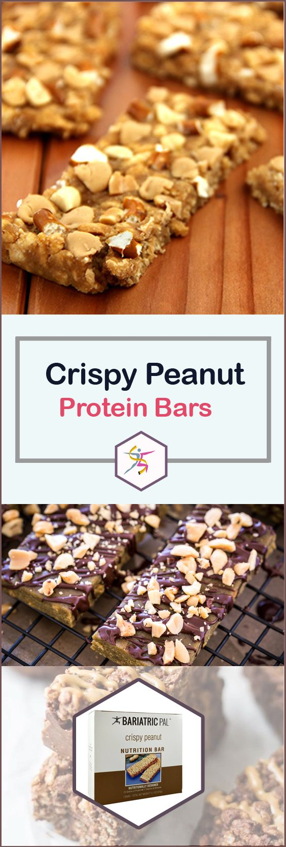 BariatricPal 15 Gram Protein Bars Crispy Peanut give you the irresistible taste of peanuts and the crunch you crave, while keeping you within your calorie and fat budget. Think of it as a chocolate peanut butter granola bar that slims you down.