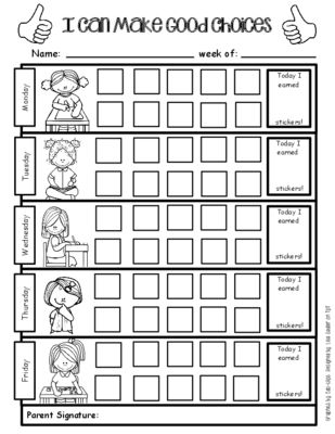 8 best Behavior Charts and Checklists images on Pinterest