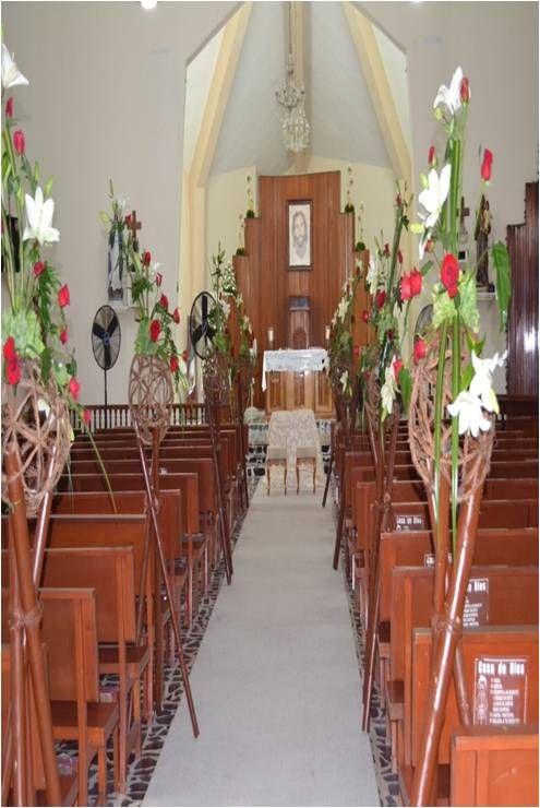 13 best decoracion de iglesias images on pinterest - Decoracion con bambu ...