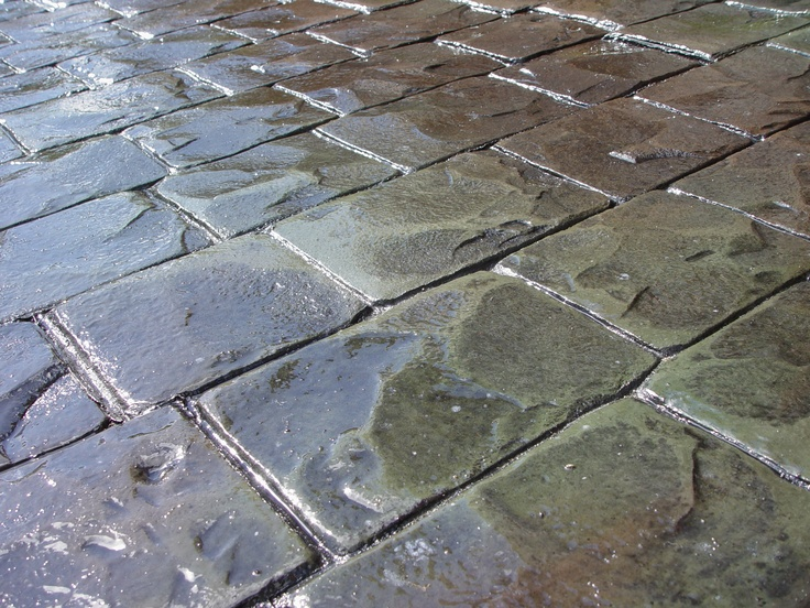 Bon Way London Cobble Stamped Concrete With Bon Way Boss Gloss Sealer Decorativeconcrete Imprintedconcrete Concrete Decor Stamped Concrete Concrete