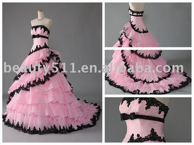 pink and black ruffles