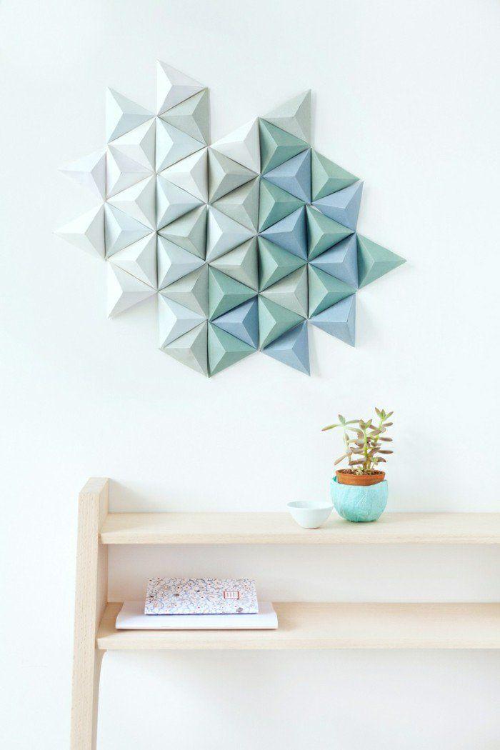 Cute kreativ basteln wanddeko origami geometrisch
