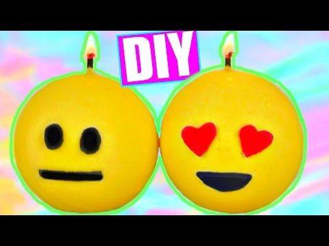 DIY EMOJI CANDLES! Tumblr Inspired Room Decor! - YouTube