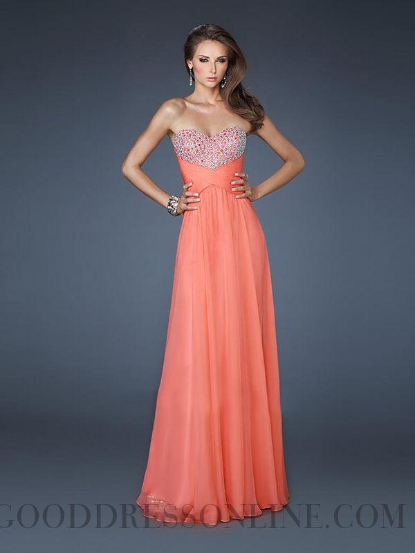 Classical Sweetheart A-line Chiffon Prom Dresses