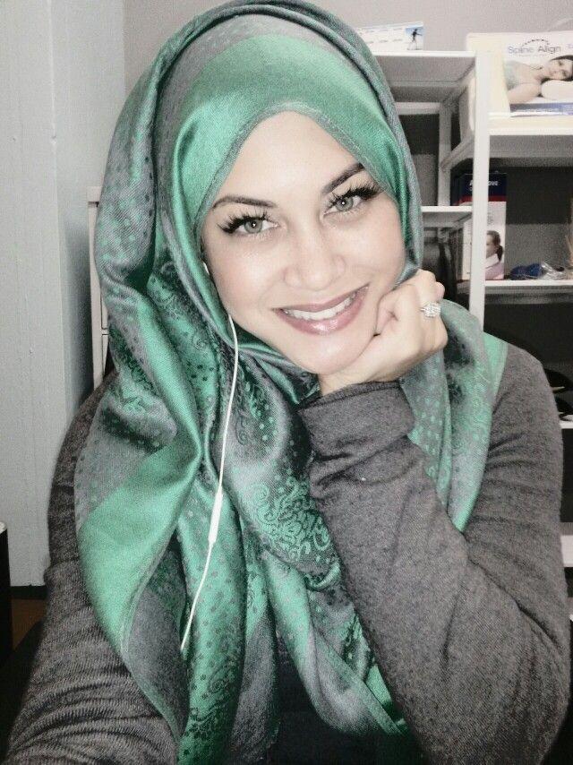 My #hijab. #islam #emerald #lashes #hijabbride #marriage #muslim