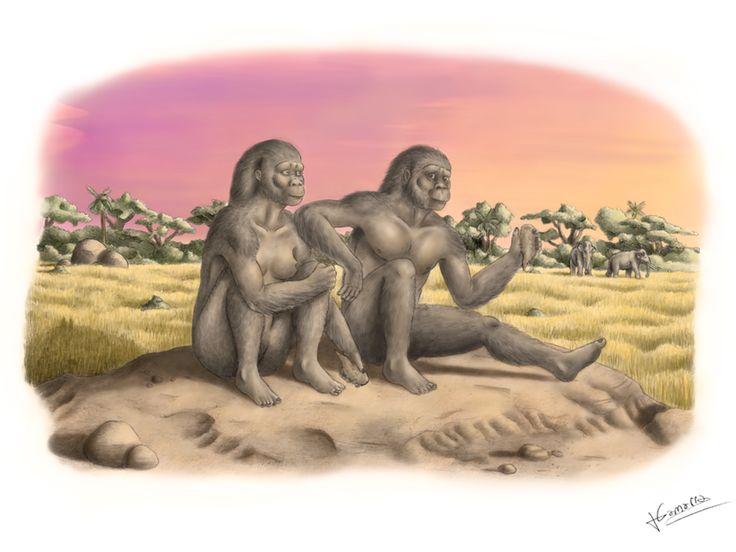 Homo habilis in love by jesusgamarra