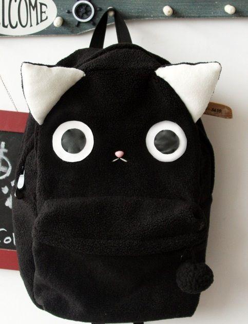 Plush Kitty Cat Backpack