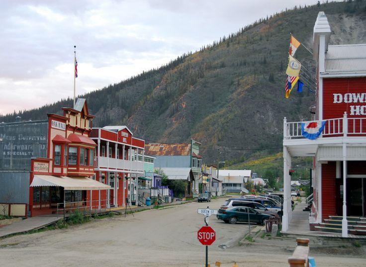 Downtown Dawson City in the Yukon, Canada.