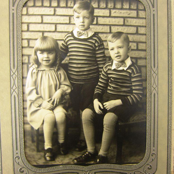 Старинное фото дети семья мальчики девочки ла современников conneaut огайо 1920 винтаж реальный   eBay