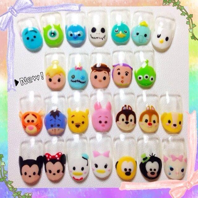 Tsum Tsum nail art = Y
