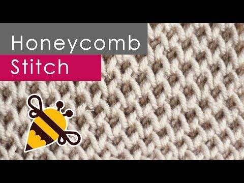 How to Knit the BEE STITCH: Knitting Lessons for Beginners - YouTube