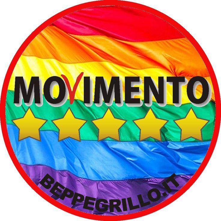 Movimento 5 Stelle, PD, Forza Italia, Politica italiana, unioni civili gay, omosessuali, il Movimento 5 Stelle e le unioni civili gay, bandiera rainbow,