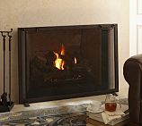 Industrial Fireplace Small Single Screen